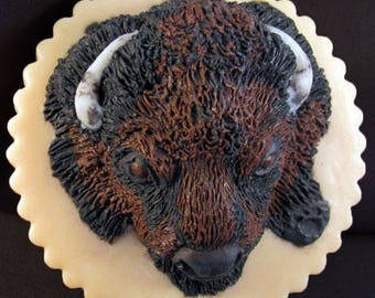 Hand carved, buffalo endangered animal soap. This soap is from a series of endangered animals that I carve. The soap is all natural.
