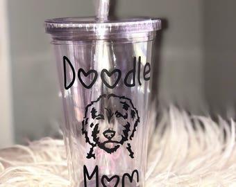 Doodle Mom 16oz acrylic tumbler BPA free
