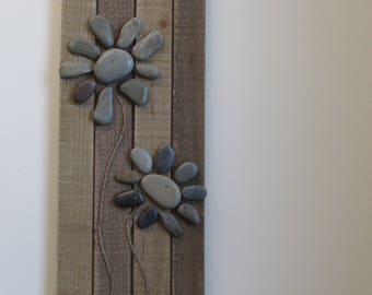 Rock Flowers Wall Hanging