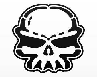 Sticker Decals Surf Skull Tablet Laptop Durable Sports car 02513