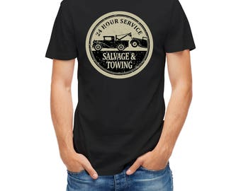 T-shirts Vintage Sign Salvage And Towing service 23970