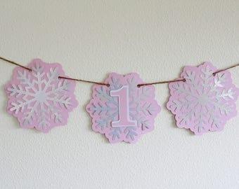 Winter Onederland High Chair Banner; Winter Onederland Decorations; Winter Onederland decor; Winter Onederland girl; Frozen Birthday banner