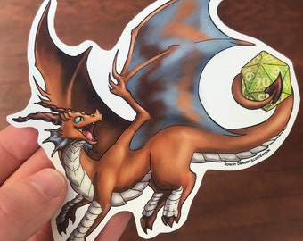 RPG Gamer Dragon Sticker - Jewel of the Horde