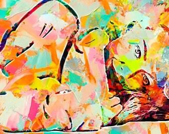 Amanda Seyfried abstract painting. digital art abstract original painting