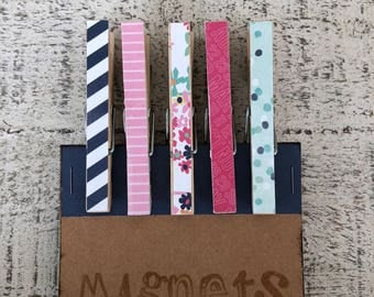 Spring Clothespin Magnets