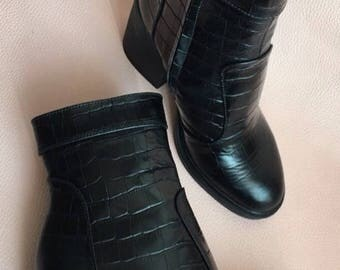 Boots from a natural leather