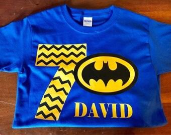 Customizable Superhero Birthday Shirt