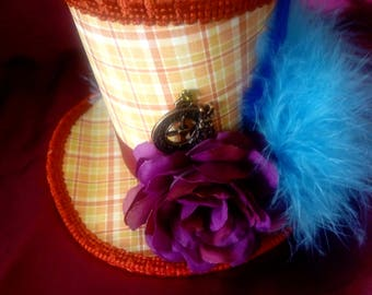 STEAMPUNK mini hat / steampunk mini top hat / Mad Hatter / Alice in Wonderland / Lolita / steampunk accessories