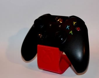 Red 3D Printed Xbox controller stand