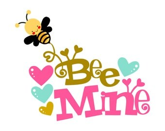 Be Mine SVG, Bee Mine SVG, Valentine SVG, Valentines Day Svg, Love Heart Svg, Cutting Files For Silhouette and Cricut, Svg Files