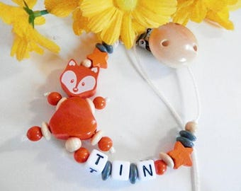 Peronalised pacifier chain with figurine