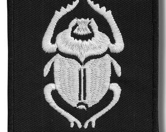 Scarabeus, Ancient Egypt - embroidered patch, 8x8 cm
