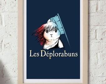 """Les Deplorabuns 11""""x17"""" Print"""