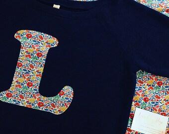 Liberty Mama Sweatshirt, Ladies Personalised Initial or Name Sweatshirt Liberty of London, Women's Personalised Sweatshirt