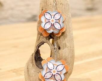 "Earrings flowers-paper collection""my paper Garden"" paper ""my garden paper"" earing"
