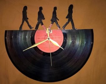 The Beatles Vinyl Record Wall Clock - Decorate your home with Modern Large upcycled 12''