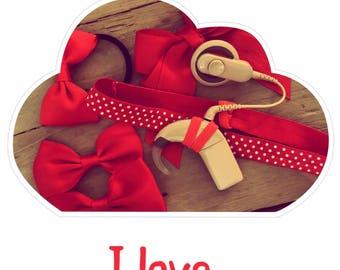 Headband I love Red