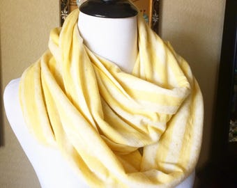 Yellow Stripped Infinity Scarf