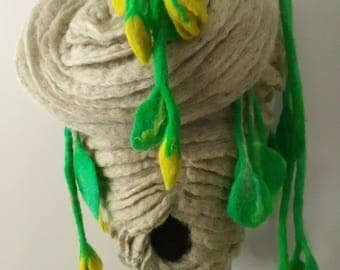 Hornets Nest Felt sculpture purse
