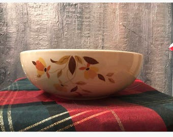 Halls Superior Mary Dunbar autumn leaf serving bowl