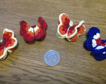 Handmade Crocheted Butterfly Brooch by Emma Frances Boutique