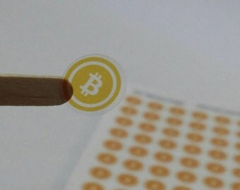 Bitcoin Logo Stickers, Crypto Stickers, PrintagonistStickers, Happy Planner Stickers, Transparent/white  Stickers (st227s)