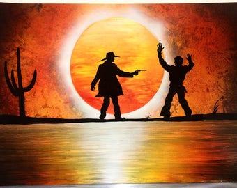 Western spray painting