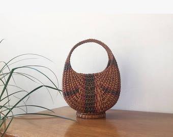 Modern/Vintage Boho Wicker Basket (SOLD)