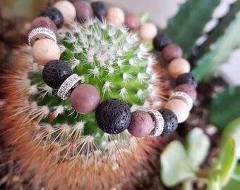 Natural Stone Bracelet, Beaded Bracelet, Essential Oil Bracelet, Women Bead Bracelet, Moonstone Bracelet, Jasper Bracelet, Lava Bracelet