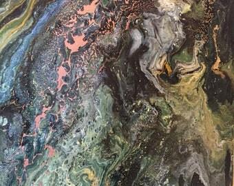 Woodland (acrylic painting) 40cm x 30cm/15 x 12 inches approximately