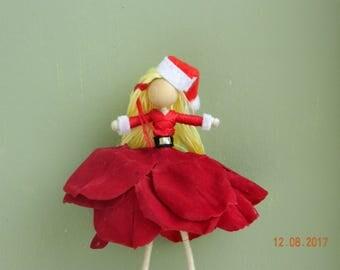 Christmas Santa Flower Fairy Doll