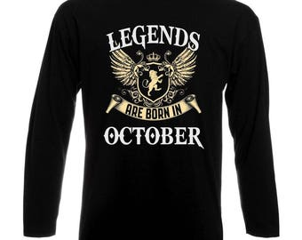 Legends Are Born In October Long Sleeve T-Shirt