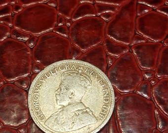 1914   Canada 10 Cent Dime Silver Coin