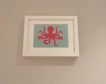 Olivia Octopus Framed Print