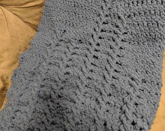 Warm Blue Ripples Blanket