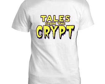 Tales from the Crypt Inspired Vampire Zombies Horror Movie Film Mens T Shirt