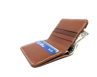 Handmade Bi-fold, Mens Bifold Wallet, Handmade Wallet, Leather Billfold, Brown Leather Wallet, American Made Wallet, Leather Cardholder