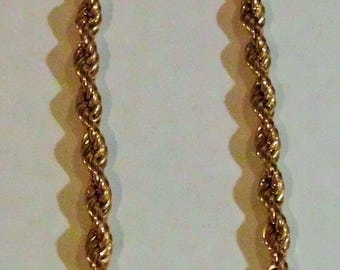Monet Vintage 17.5 Inch Gold Tone Twisted Rope Necklace