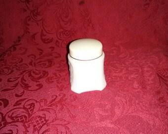 Vintage Avon white milk glass jar