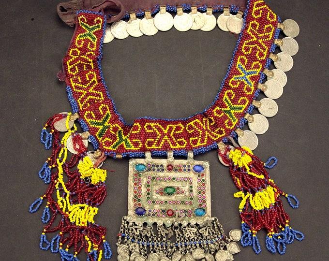 Afghan Tribal BELT Bellydance Dangles Turkoman 868j1