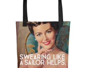 Retro Lady Feminist Tote bag