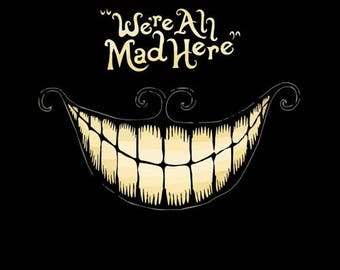 We're All Mad Here - Alice in Wonderland fridge magnet