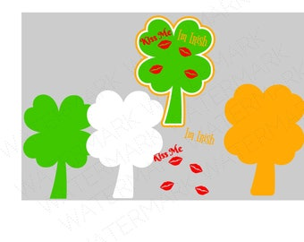 Kiss Me Im Irish SVG & Studio 3 Cut File Stencil Decal Files Logo for Silhouette Cricut SVGS Cutouts