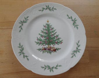 Lovingly decorated Christmas plate