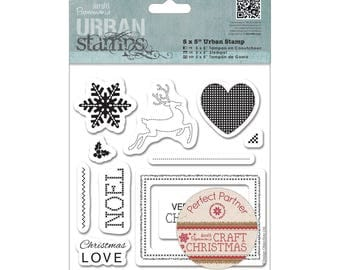 """Set of 11 rubber stamps, Docraft brand, """"Craft Chistmas"""" collection"""