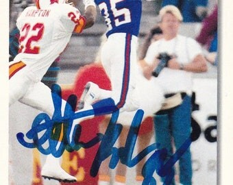 1993 Stephen Baker Autographed football card Mint Condition