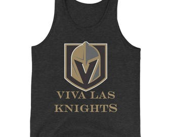 Viva Las Knights Vegas Golden Knights Hockey Mens Tank Top