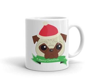 """Mug """"Pug christmas"""""""