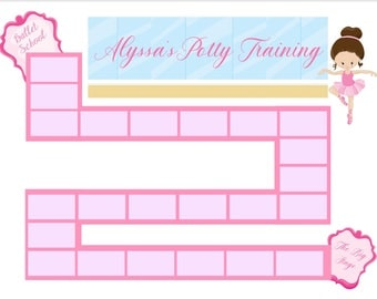 Ballet Potty Train Chart with stickers