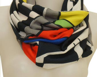 Snood doubled printed ARTY